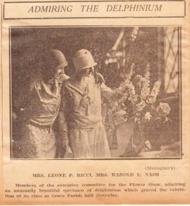 June 1928 Flower Show