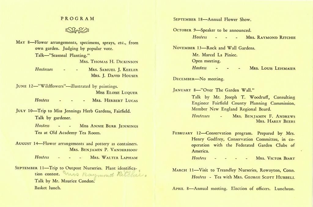 1935 - 1936 Program