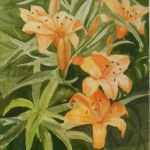 """Daylilies"" by Noreen Normand on display at the Mayor's Gallery"
