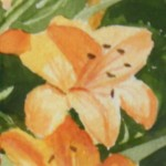 Snippet of watercolor by Noreen Normand