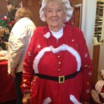 Evelyn as Mrs. Santa - 2015 Christmas Fair!