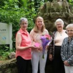 From left, Diane Russell, scholarship program chairperson; Fortuna; Noreen Normand, scholarship committee; Jan Valus, treasurer; Paula Fortuna, Natalia's mother; and Martha Moore, co-president.